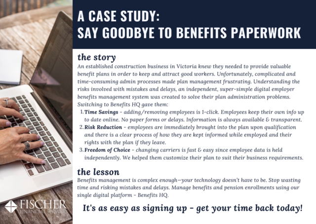 Fischer Financial Case Study Employer Benefits